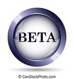 Beta icon Internet button on white background