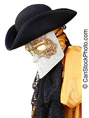 Venice carnival costume of an ancientVenetian nobleman -...