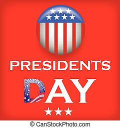Presidents Day Icon Isolated on Red Background