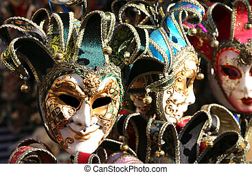 Venice Italy carnival mask for sale in the shop - Venice...