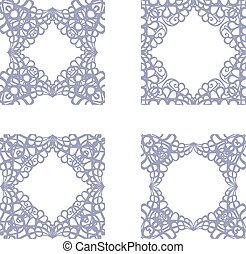 Lace seamless frame