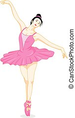 beautiful ballet dancer - vector illustration of beautiful...