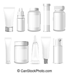 Realistic Vector Tubes and Jar - Realistic Tubes, Jar And...
