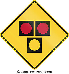 Road sign used in the US state of Delaware - warning sign...