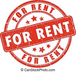 For rent rubber stamp