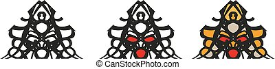 Samurai symbols - logo with a graphic image of a Japanese...