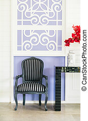 Vase flower - Beautiful vase flower and empty chair...