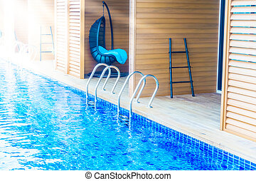 Pool stairs - Swimming pool with Pool stairs - Sunflare...