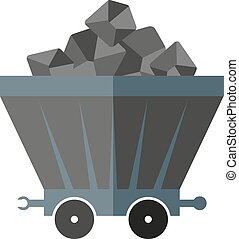 coal wagon - flat image of coal wagon