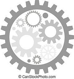 mechanism - flat image of metal gears
