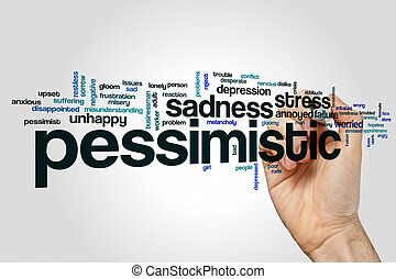 Pessimistic word cloud concept - Pessimistic word cloud