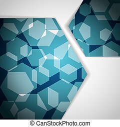 Abstract polygonal business blue background