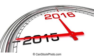 New Year 2016 Clock (with Matte) - Clock countdown from year...