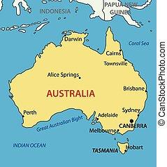 Commonwealth of Australia map