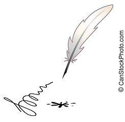 a feather and a black blotch
