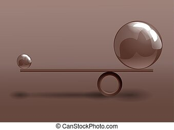 balance conceptual image of balance between two issues