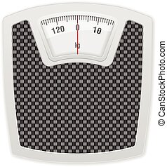 Bathroom scale on white background. Vector illustration.