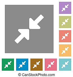 Resize small square flat icons - Resize small flat icon set...