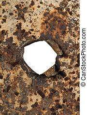 Metal with hole - Texture of metal with hole in center of it