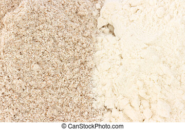 Flour - smooth and wholegrain types