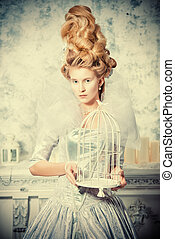 richness - Portrait of a fashion model in a magnificent...