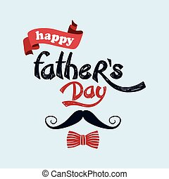 happy father day theme vector art illustration