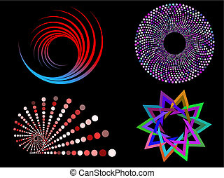 circular designs - Various multi coloured circular design...