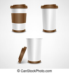 Plastic coffee cup template vector eps 10