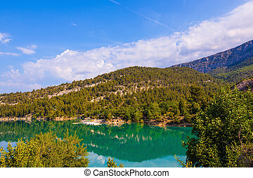 Europes alpine canyon Verdon - Europes largest alpine canyon...