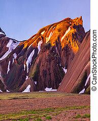 Morning dawn Landmannalaugar, Iceland - Mountains and...