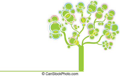 Green graphic tree