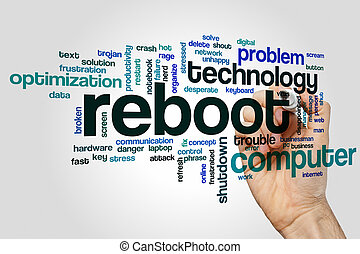 Reboot word cloud concept - Reboot word cloud