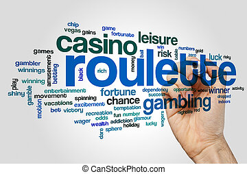Roulette word cloud concept