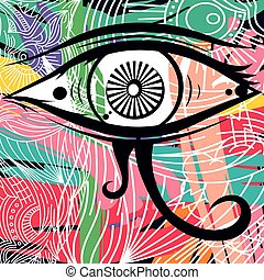 horus eye abstract art theme vector illustration