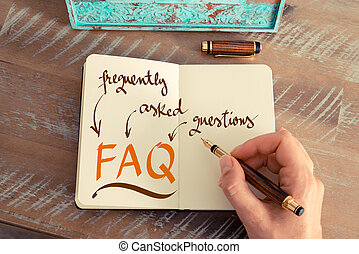 Business acronym FAQ FREQUENTLY ASKED QUESTIONS - Retro...
