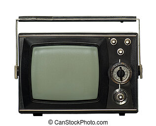 Old tv - There you can see an old-fashioned black tv