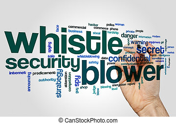Whistle blower word cloud concept - Whistle blower word...