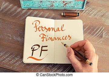 Business acronym PF PERSONAL FINANCES - Retro effect and...