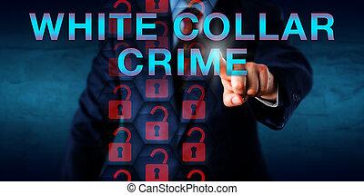 Detective Pressing WHITE COLLAR CRIME Onscreen - Detective...