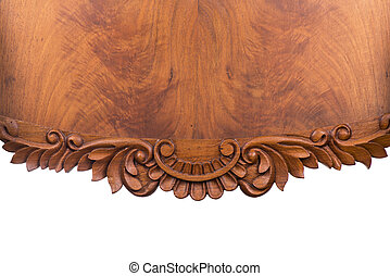 Old wood bacground - Old wooden table on white background...