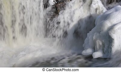 Icy Waterfall - Powerful closeup of a waterfall