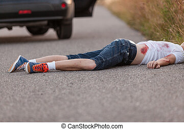 Young boy run over by a car