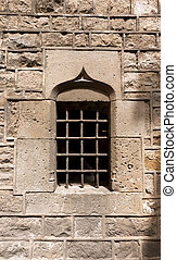 Detail of Barcelona Cathedral - Spain - Detail of a window...