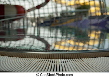 Surface disabled whirlpool tubs. - Closeup on a stable...