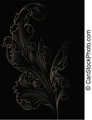 Acanthus leaf background