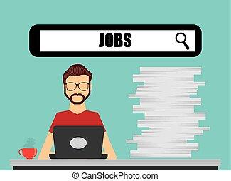 jobs concept design - jobs concept design, vector...
