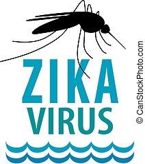 Zika Virus - Zika virus, mosquito over standing water...