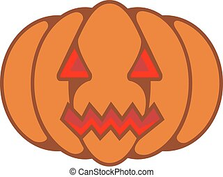 pumpkin - Halloween pumpkin with evil grin
