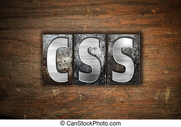 CSS, begriff, metall, Briefkopierpresse, Art,