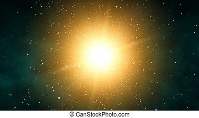 Galaxy Sunshine 60fps - Orbiting through stars around the...